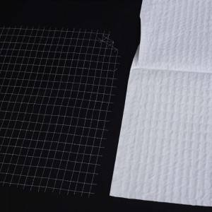 Polyester stretch mesh fabric Laid Scrims for reinforced medical blood-absorbing paper tissue for Middle East Countries