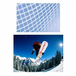 Non-woven laid scrims laminated for snowboards for reinforcement solutions