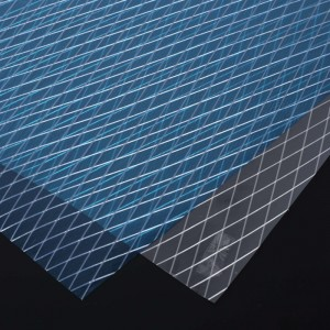 Triaxial mesh Laid Scrims for reinforced paper bag window