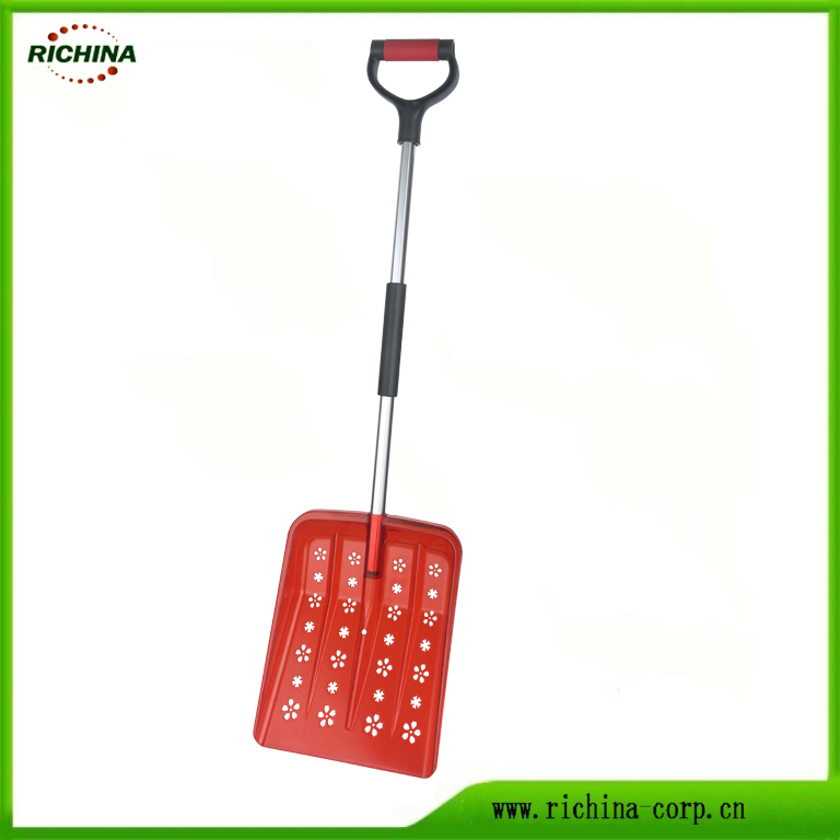Plastic Snow Shovel with Hollow Decorative Blade