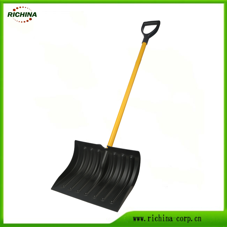 Metal qolu ilə Basic Snow Pusher Shovel