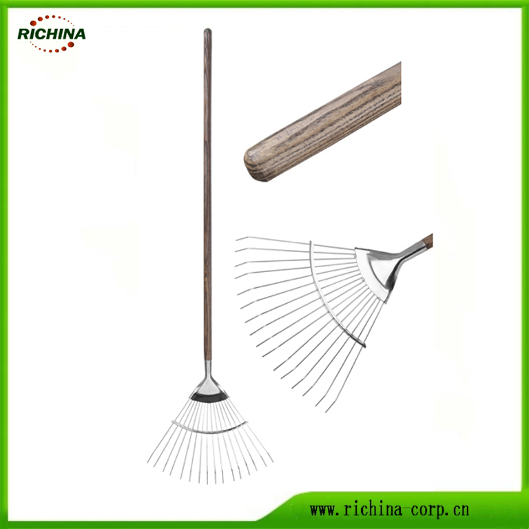 Long Handle hindi kinakalawang na asero Lawn Rake