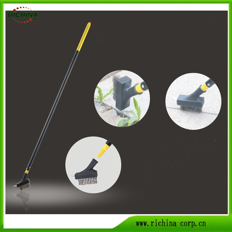 Patio û Block Weed Cleaning Wire Brush bi Scraper