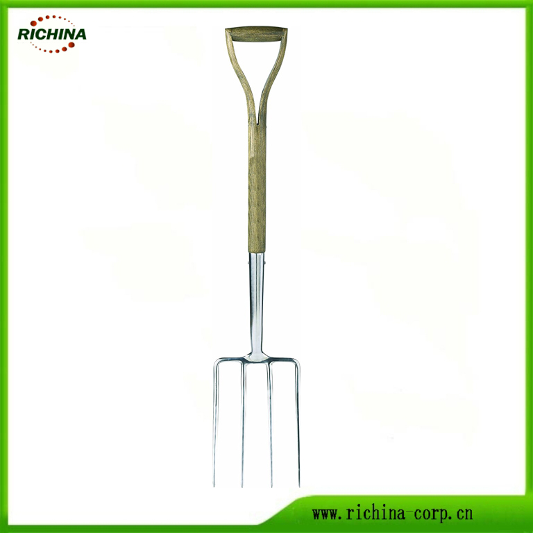 UK Traditional Stainless Digging Fork