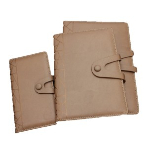 PU Cover Notebook with button