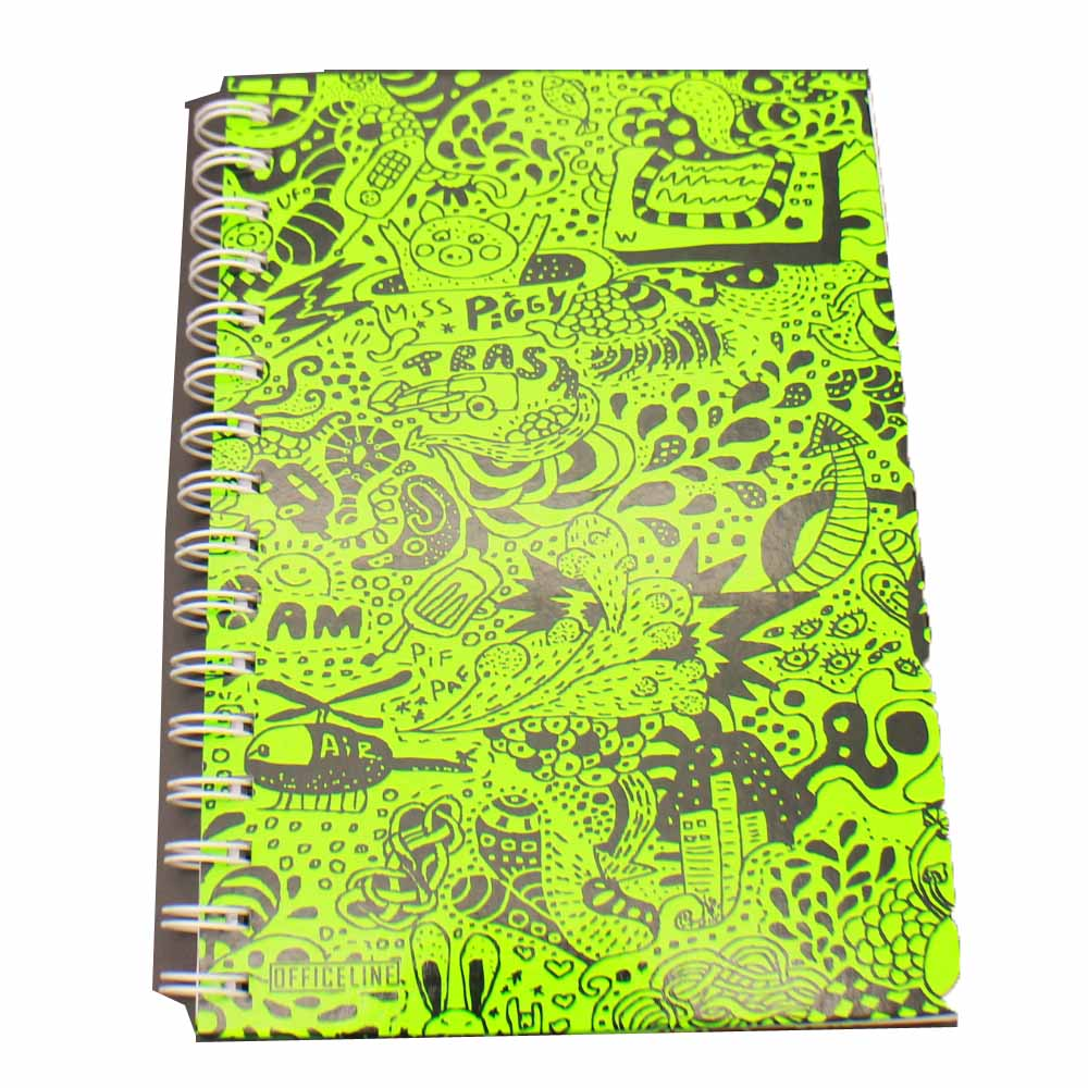 Fluorescent color cover customized spiral hard cover planner