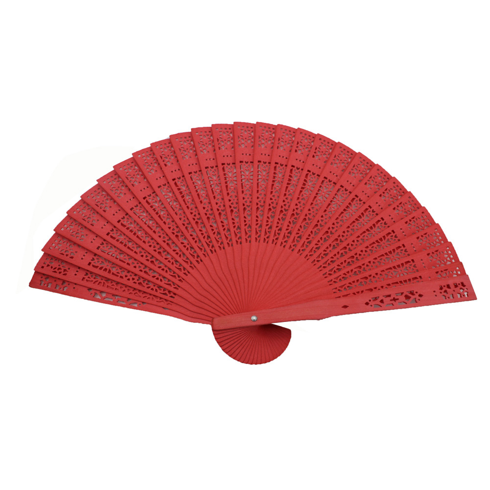 Promotional or festival wooden folding fan