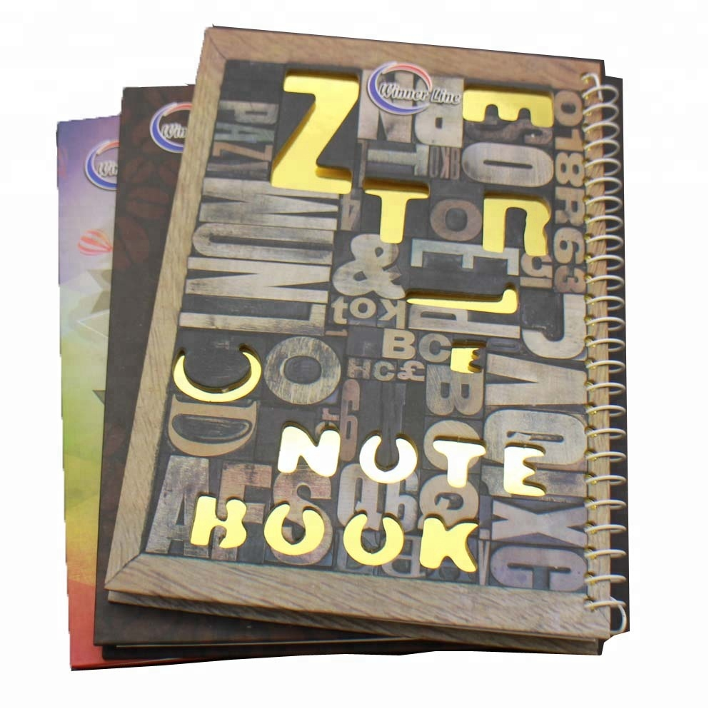 A5 hardcover gold notebook
