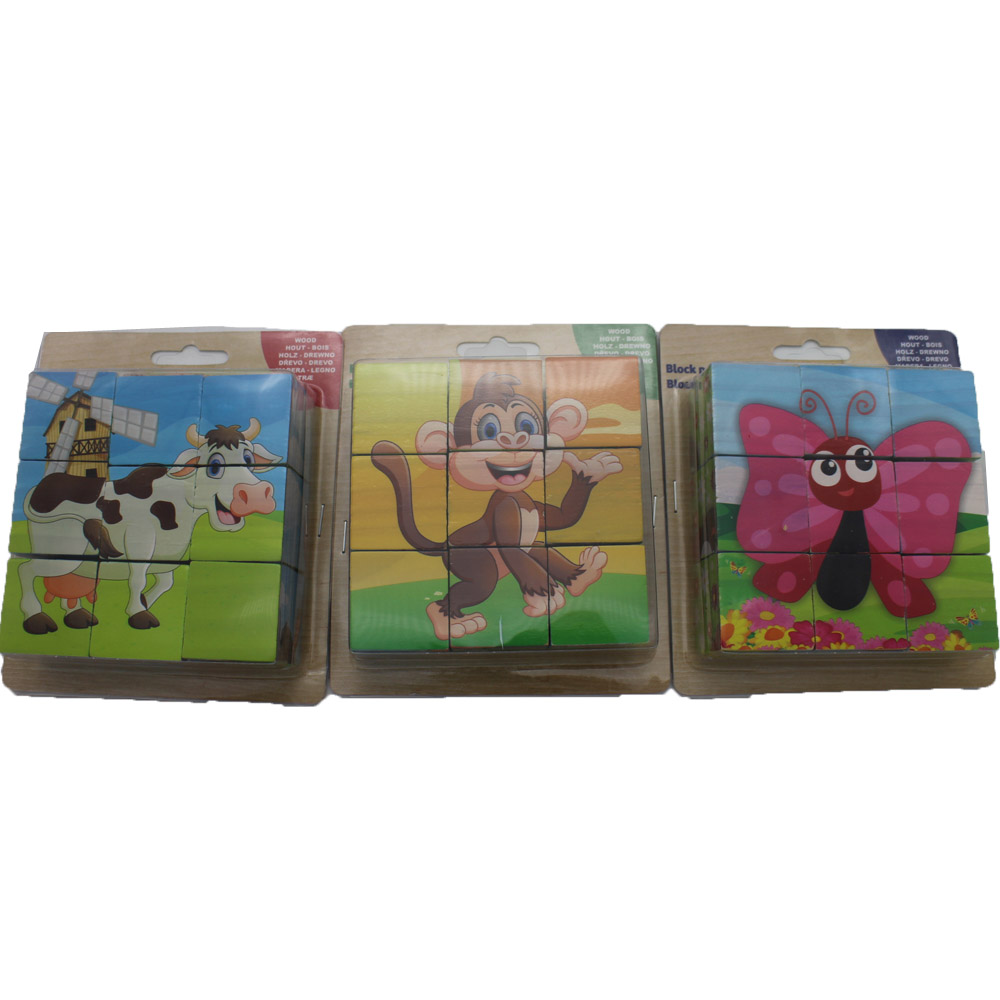 stereoscopic wooden puzzles Children Jigsaw animal themes