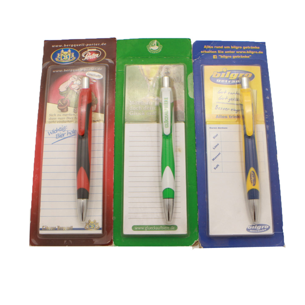 promotional magnetic sticky note with ballpen school stationery set