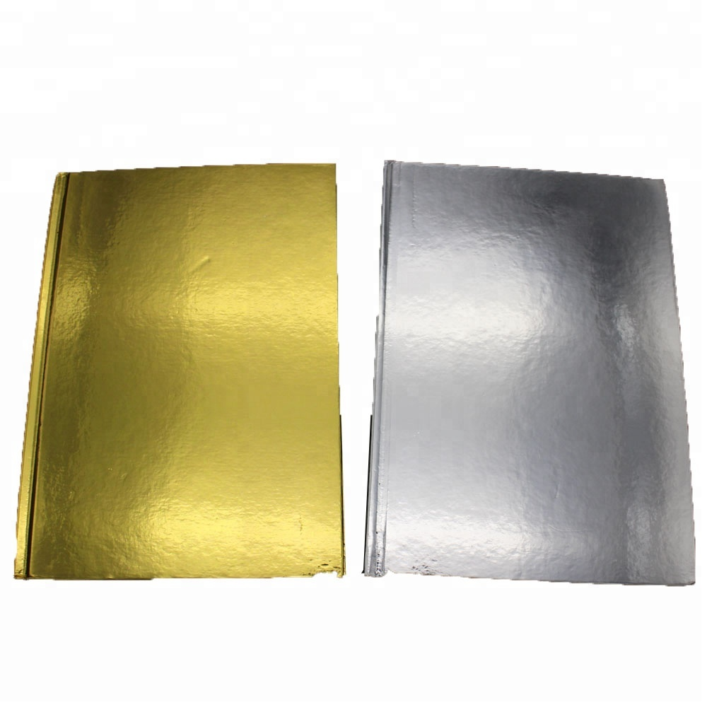 gold or silver foil cover glued notebook