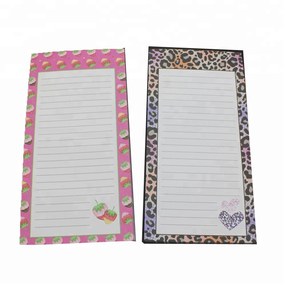 Magnetic ruled notepad