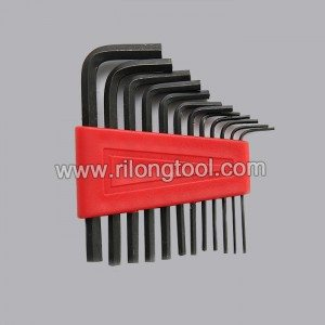 12-PCS Hex Key Sets packaged by plastic frame