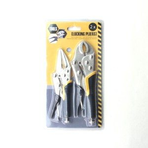 2-PCS Backhand Locking Pliers Sets with Jackets
