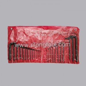 25-PCS Hex Key Sets packaged by PP bag