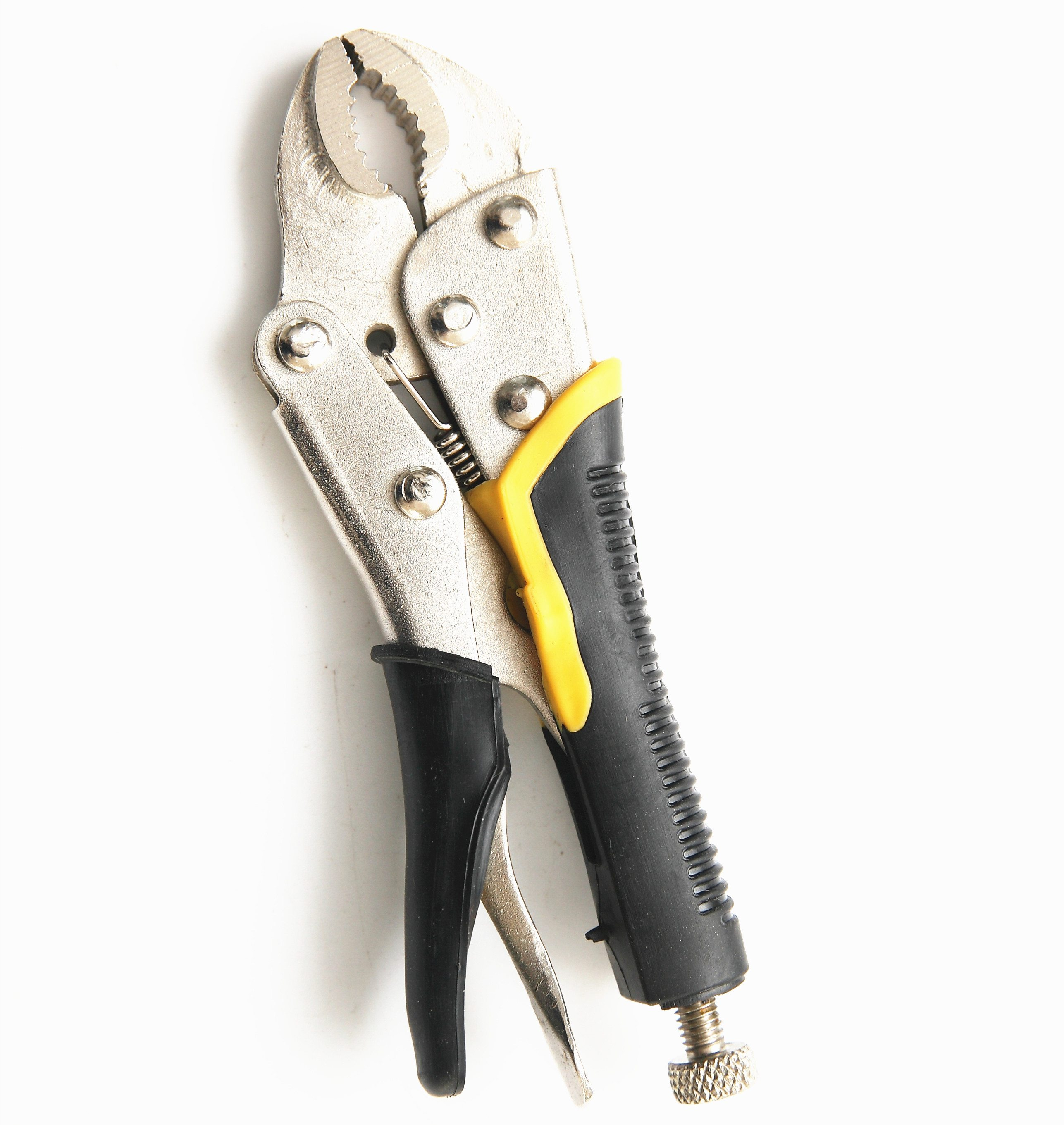 5″ Backhand Curved Jaw Locking Pliers with Jackets