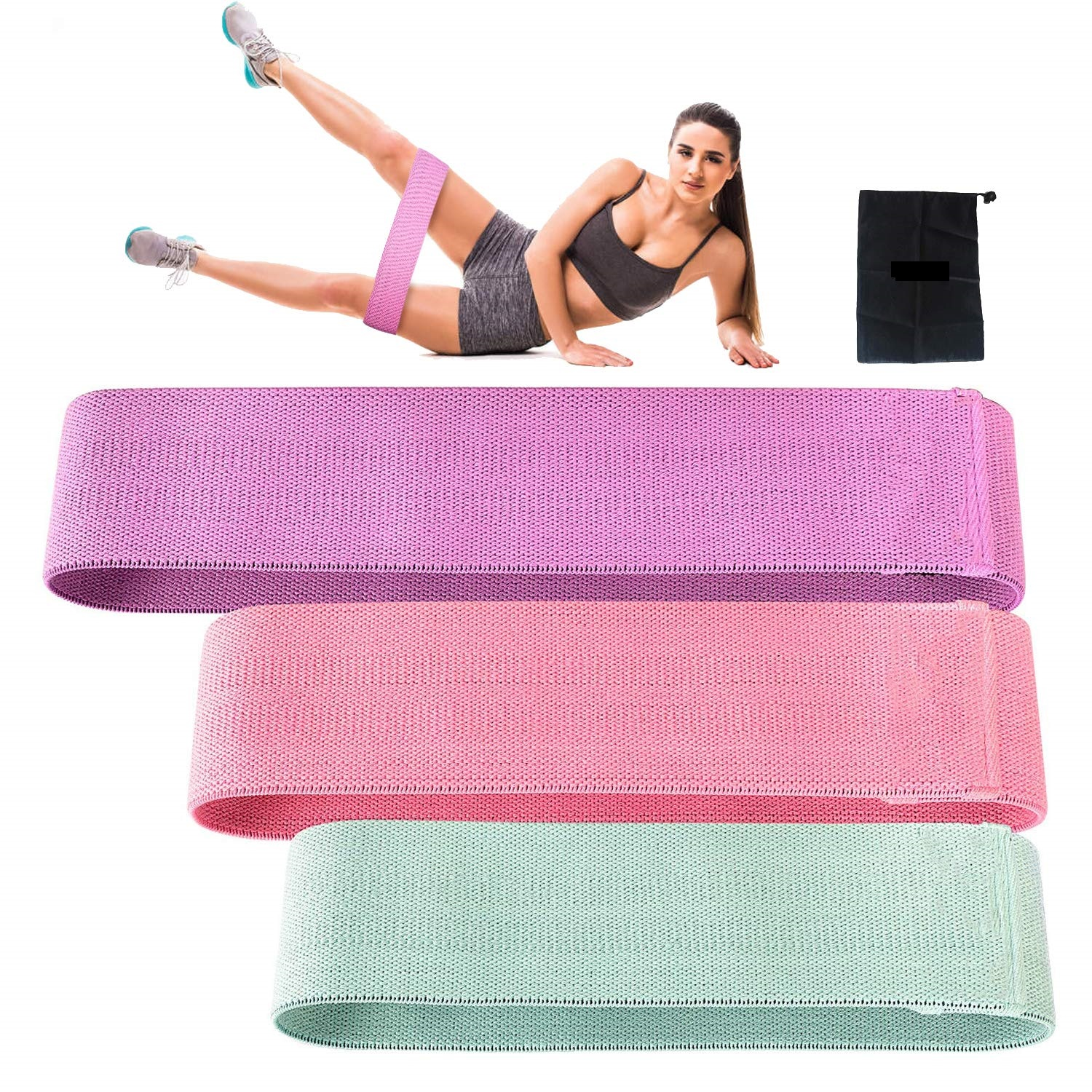 Fabric Resistance Bands set Booty Hip Bands Rolling Circle Bands Featured Image