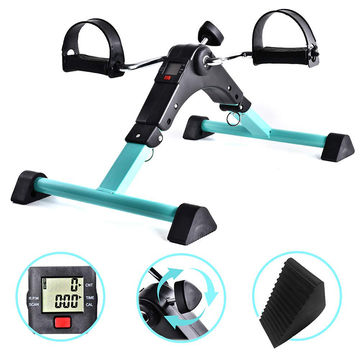 Mini Exercise Bike Folding Mini Bike Foot Pedal Exerciser for Elderly Folding Easy Cycle