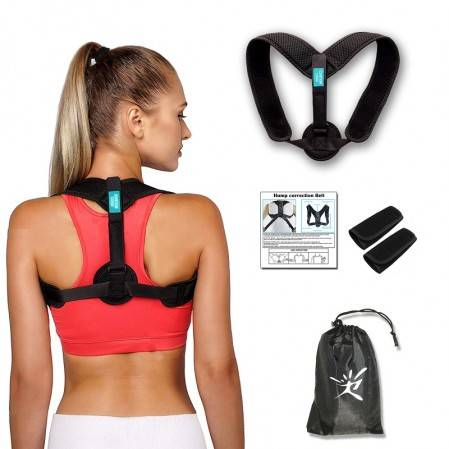 Customize physics therapy adjustable back posture corrector for Women and Men