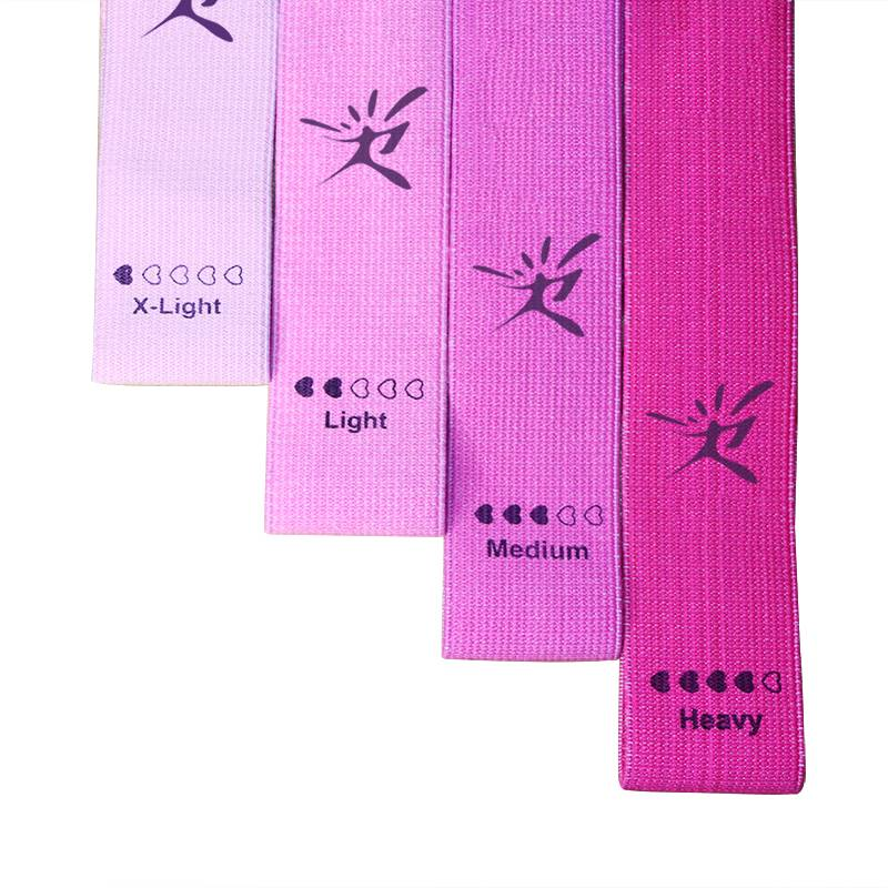 Wholesale custom booty  bands set exercise fabric  loop resistance bands