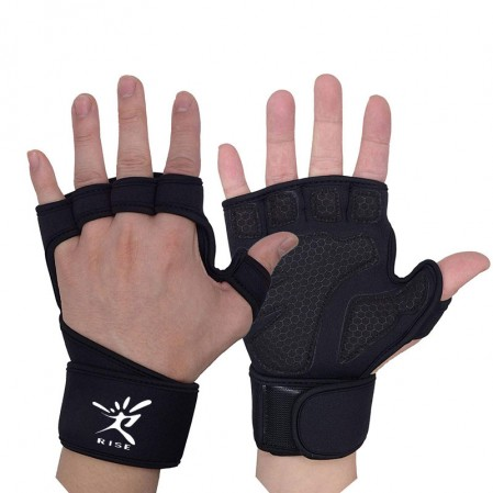 Custom Half finger Gym fitness Weightlifting Gloves Men & Women, Workout Gloves with Wrist Support