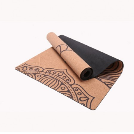Highest quality premium stretch exercise cork yoga mat custom cork mat