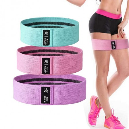 Wholesale custom gluet hip bands set exercise fabric booty loop resistance bands