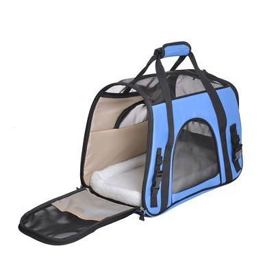 Cat Carrier,Soft-Sided Pet Travel Carrier for Cats,Dogs Puppy Comfort Portable Foldable Pet Bag Airline Approved