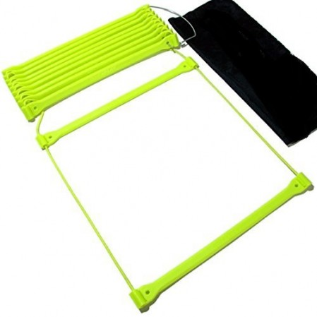 No Tangle Agility Ladder with Quick Lock Adjustable Flat Rungs + Carry Bag
