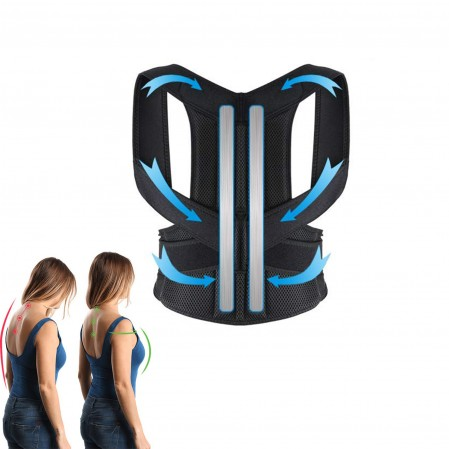 Custom Logo Size Adjustable Lumbar Back Brace Posture Corrector for men women for Improve Posture Provide and Back Pain Relief