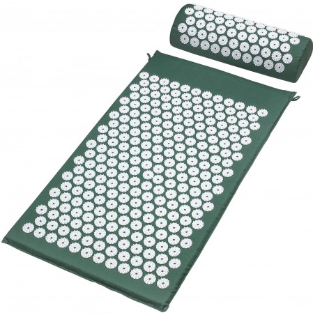 Foot Back and Neck Pain Relief Acupressure Mat and Pillow Set Foot Muscle Acupressure Massage Mat Comes in a Carry bag/ box