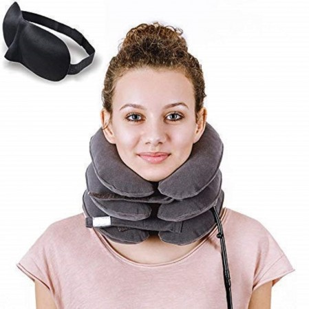 Neck Traction Device and Collar Brace Inflatable and Adjustable neck Support