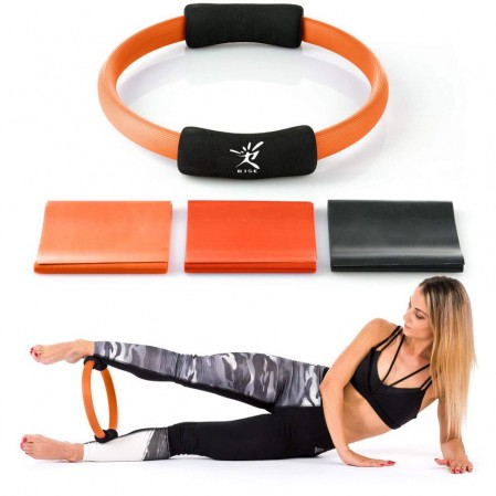 Pilates Yoga Ring with resistance band