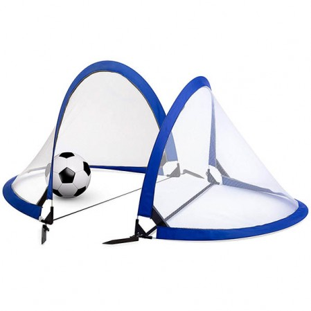 Soccer Goal Set of 2 with Travel Bag – Ultra Portable 4 Foot Instant Pop Up Football Goal Nets