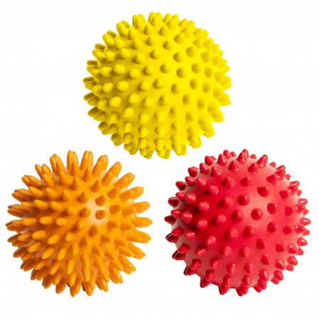 Spiky Massage Balls Foot Back Shoulder 3 Spikey Ball Rollers