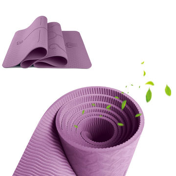 Eco Friendly Non-Slip Exercise & Fitness TPE yoga Mat with Carrying Strap, Workout Mat for yoga Featured Image