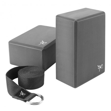 Manufacturer custom High Quality yoga stretch strap and EVA yoga block for yoga sports