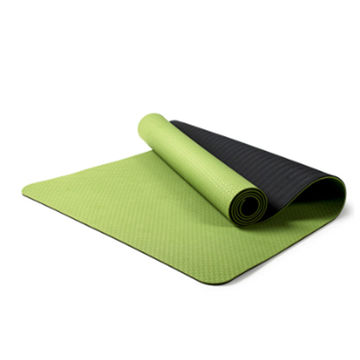 Eco Friendly Non-Slip Exercise & Fitness TPE yoga Mat with Carrying Strap, Workout Mat for yoga