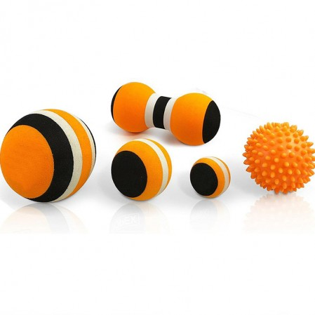 Eva foam massage ball set spiky massage ball peanut bola