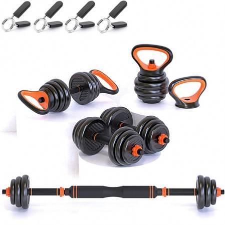 Adjustable Dumbbell Set, Free Weights Dumbbells Set of 2, Kettlebell, Barbell, Push-up
