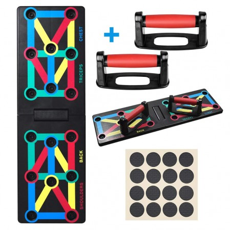 Push Up Board System, 12-in-1 Body Building Exercise Tools Color-Coded Push Up Board System