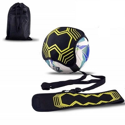 Hands Free Solo Soccer Trainer- Fits Ball Kick Trainer, Soccer Training Aid Widened Side Waist Protection