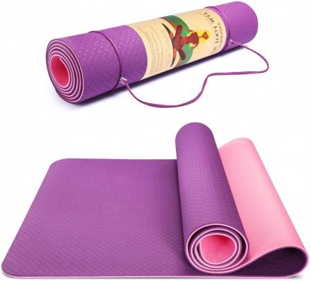 Eco-firendly non-slip TPE yoga mat supplier,Exercise & Fitness mat for yoga and pilates