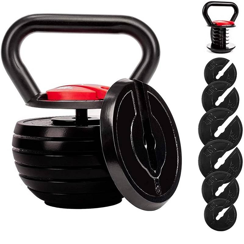 Adjustable Kettlebell Set Strength Training Exercise 10lb-40lb Kettle Ball Handle Grip Free Featured Image