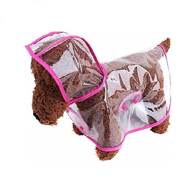 Outdoor Puppy Pet Rain Coat with Hood Waterproof raincoat