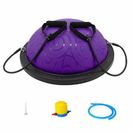Half Ball Balance Trainer with Straps Yoga Balance Ball