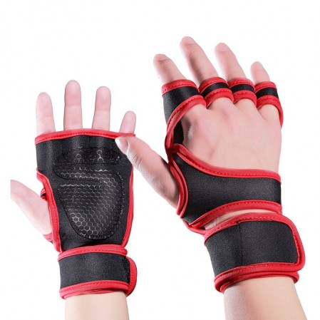 Weightlifting gloves for fitness with  Wrist Support & Full Palm Protection