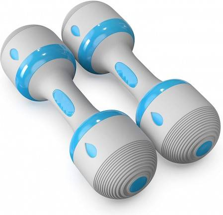 Adjustable Dumbbell 2.2-4.4 lbs and 4-22 lbs Weight Options, Non-Slip Neoprene Hand