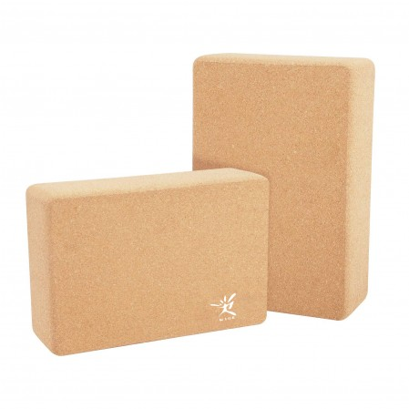 Natural & Eco-Friendly Cork Yoga Block to Support and Deepen Poses