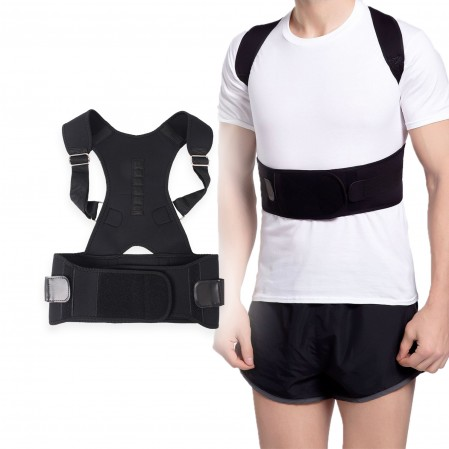 Back Brace Posture Corrector Keep Spine Safe for Women and Men Provide Lumbar Protection Full Adjustable Elastic Straps
